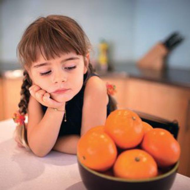 девочка с апельсинами - аллергия